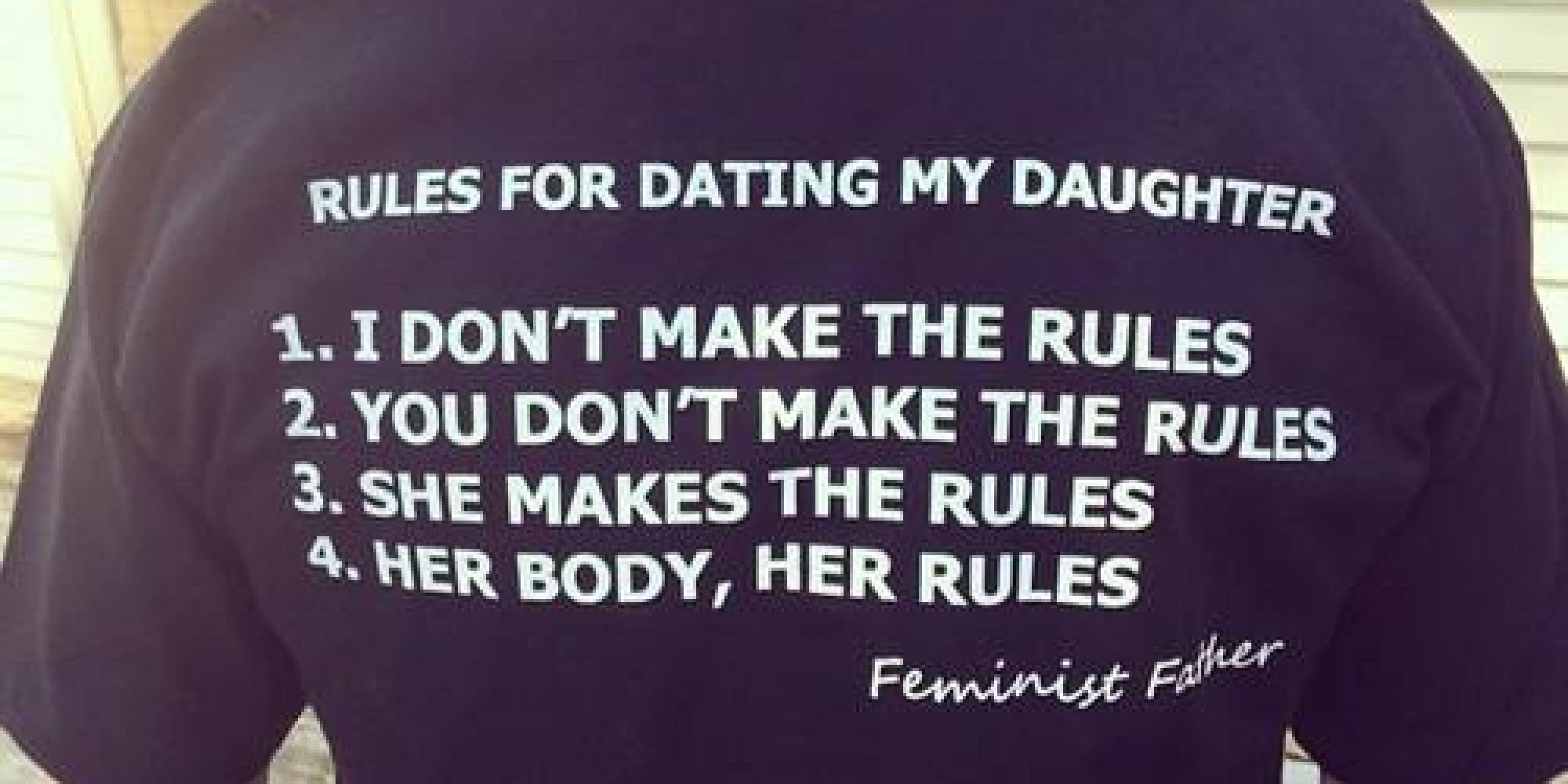 T shirt ten rules for dating my daughter