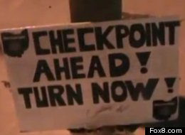 Ohio Man Cited DUI Checkpoint Warning Sign