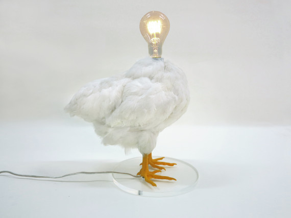 avant garde lighting. That Is The Official Title Of Chilean-born Artist Sebastian Errazuriz\u0027s Design Basel 2014 Artifact. Made From A Taxidermy Chicken, Avant-garde Light Avant Garde Lighting