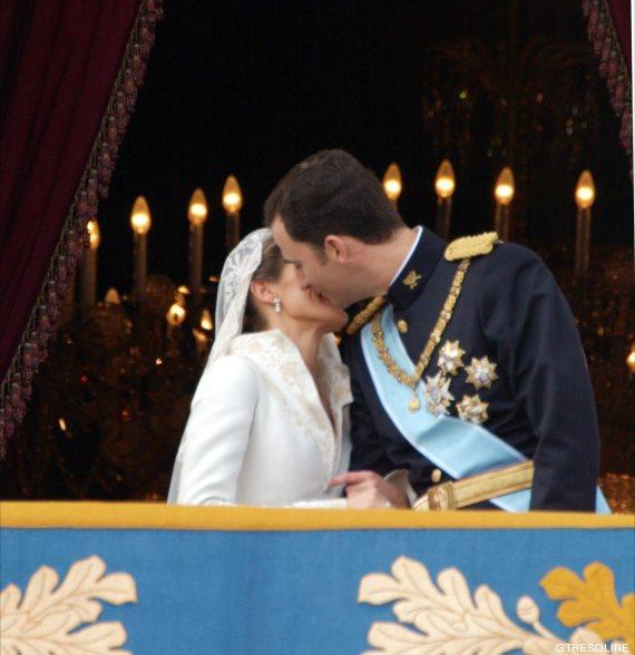 beso boda felipe letizia