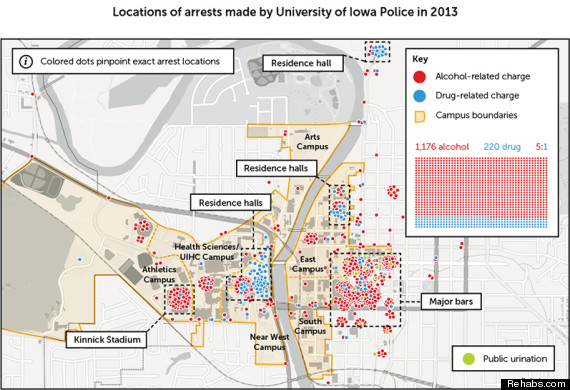 university of iowa arrests