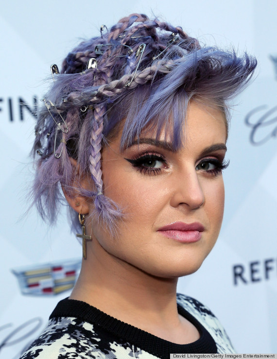 kelly osbourne safety pin hair