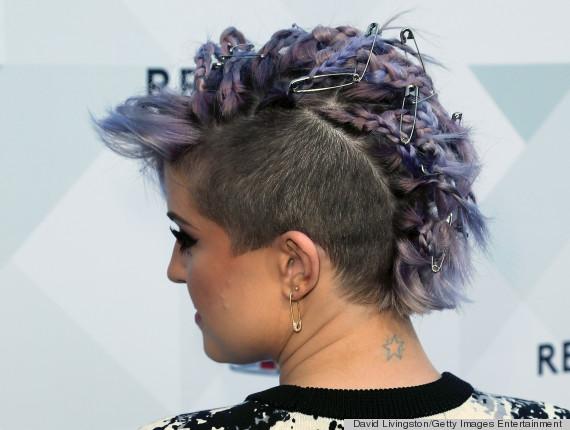 kelly osbourne safety pin hair