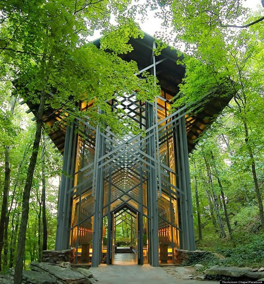 Arkansas Thorncrown Chapel Is The Glass Church In The