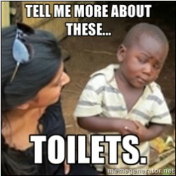 skeptical african kid meme