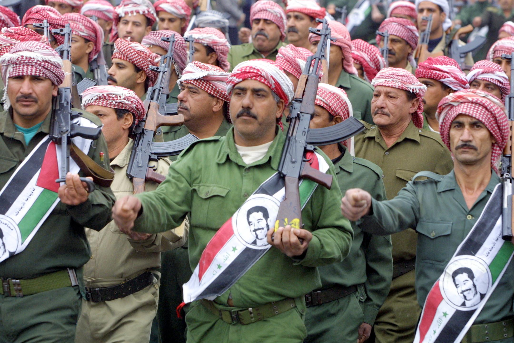 baath party flag iraq saddam