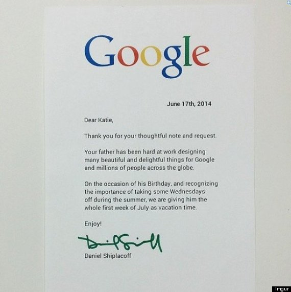 Letter From Daughter Of Google Employee Gets Epic Response And – Response Letter