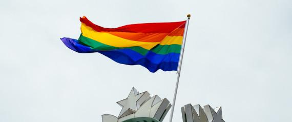 STARBUCKS GAY PRIDE FLAG