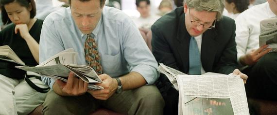 NEW YORK MAN READING NEWSPAPER