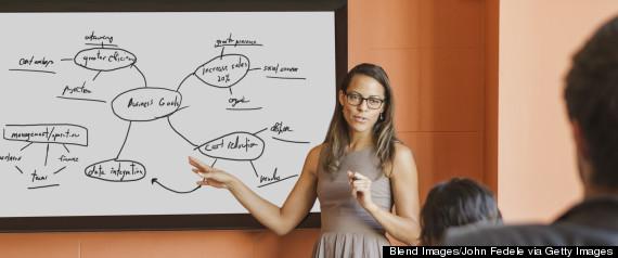 professional woman presentation