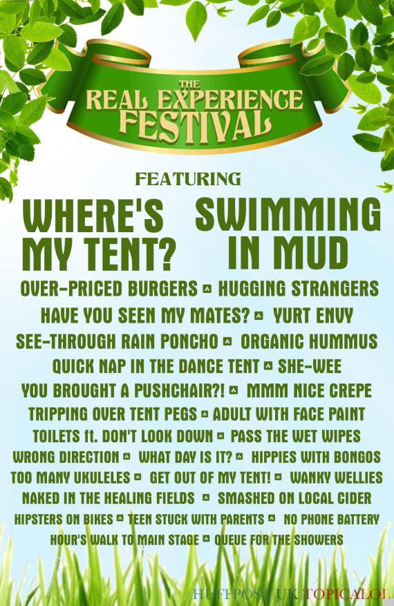 glastonbury music festival poster spoof