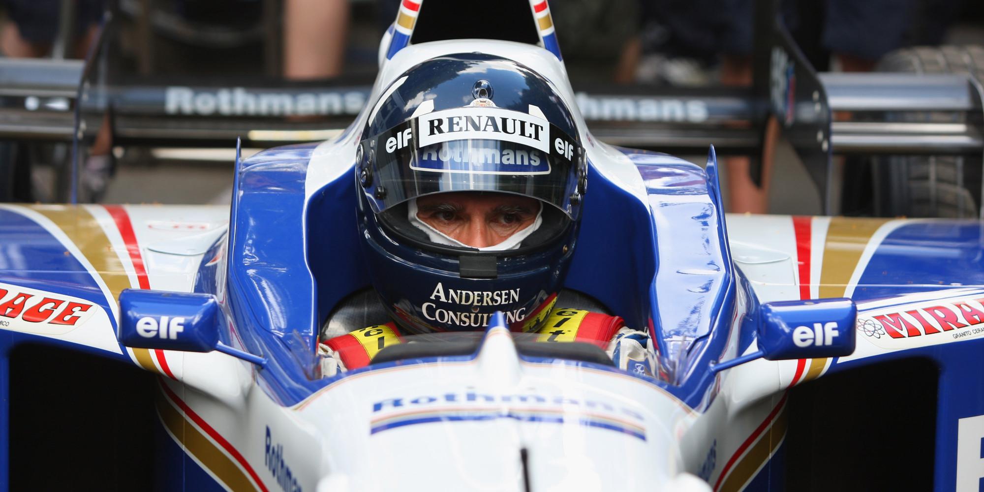 Goodwood festival of speed damon hill returns in f1 title for Damon racing