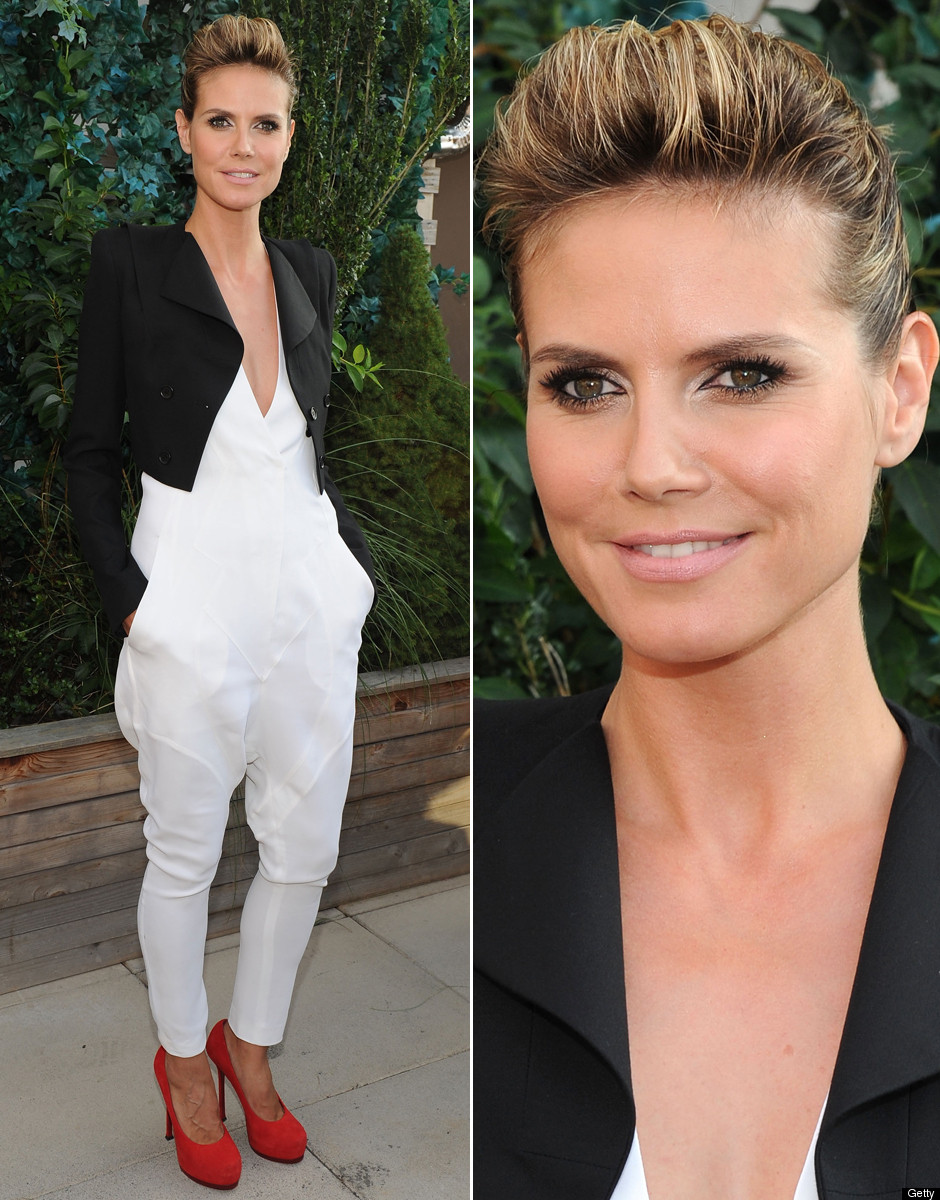 Heidi Klum Goes Macho For 'Project Runway' Premiere (PHOTOS, POLL)