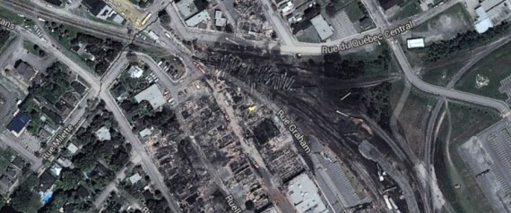 LAC MEGANTIC GOOGLE EARTH
