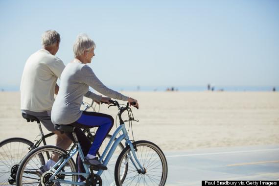 old person biking