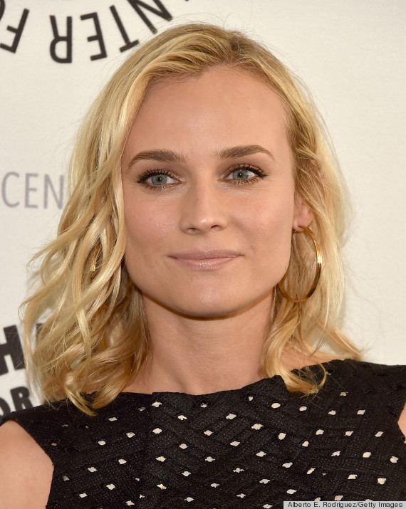 Diane Kruger Doesn Let Her Fine Hair Keep Down