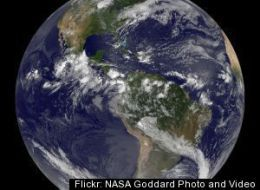 Nasa Goes13 Full Disk View Of Earth July 14 2010