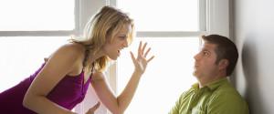 Woman Shouting At A Man