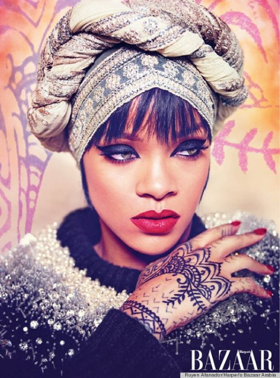 Recreate Rihanna's Harper's Bazaar Arabia Cover Look With ... Traditional African Fashion Headdress