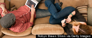 USING SMARTPHONES ON COUCH