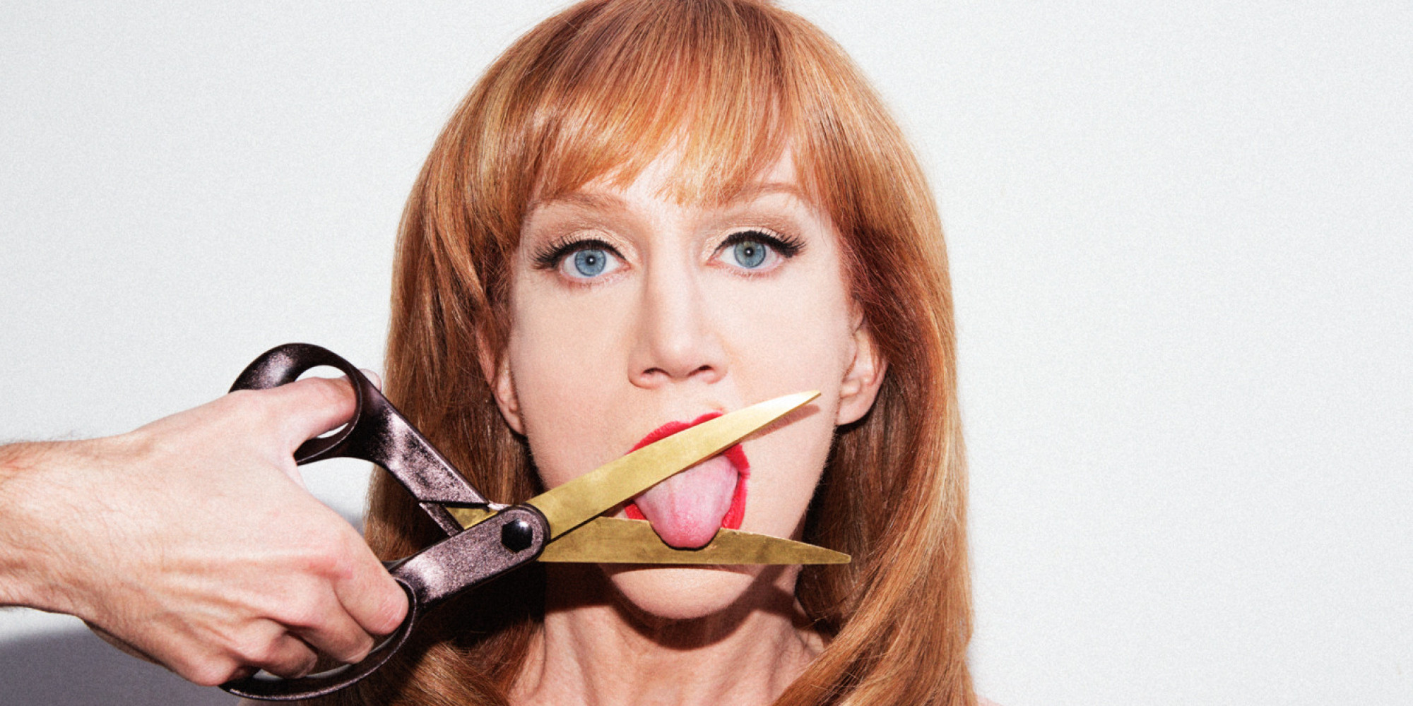 Kathy Griffen cut her own tounge off