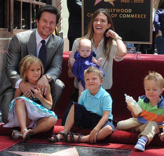 Mark Wahlberg Gets Hollywood Star Brings His 4 Kids