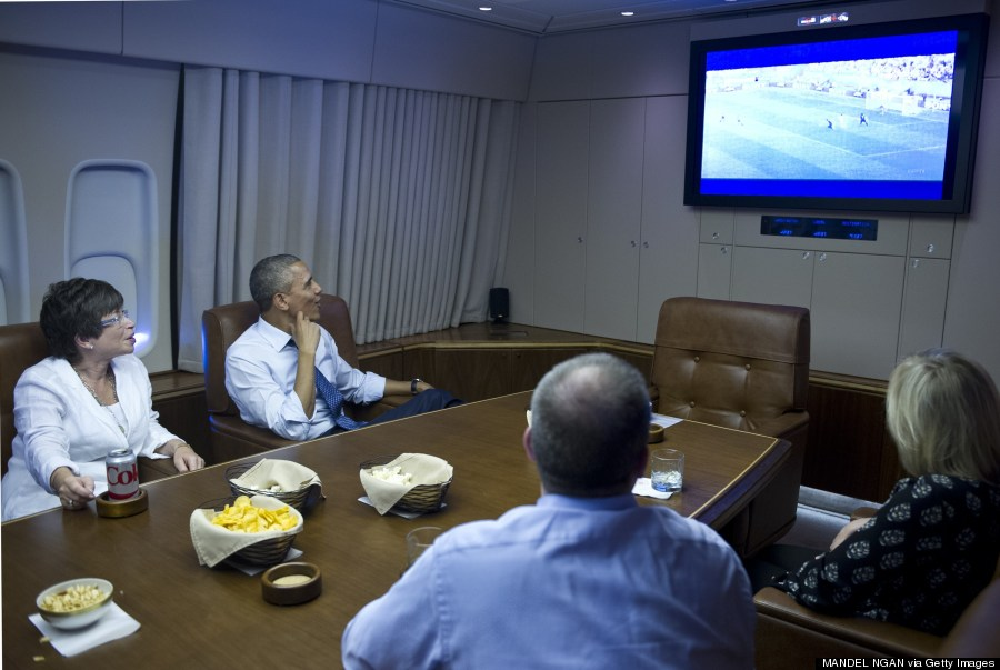 president watch world cup