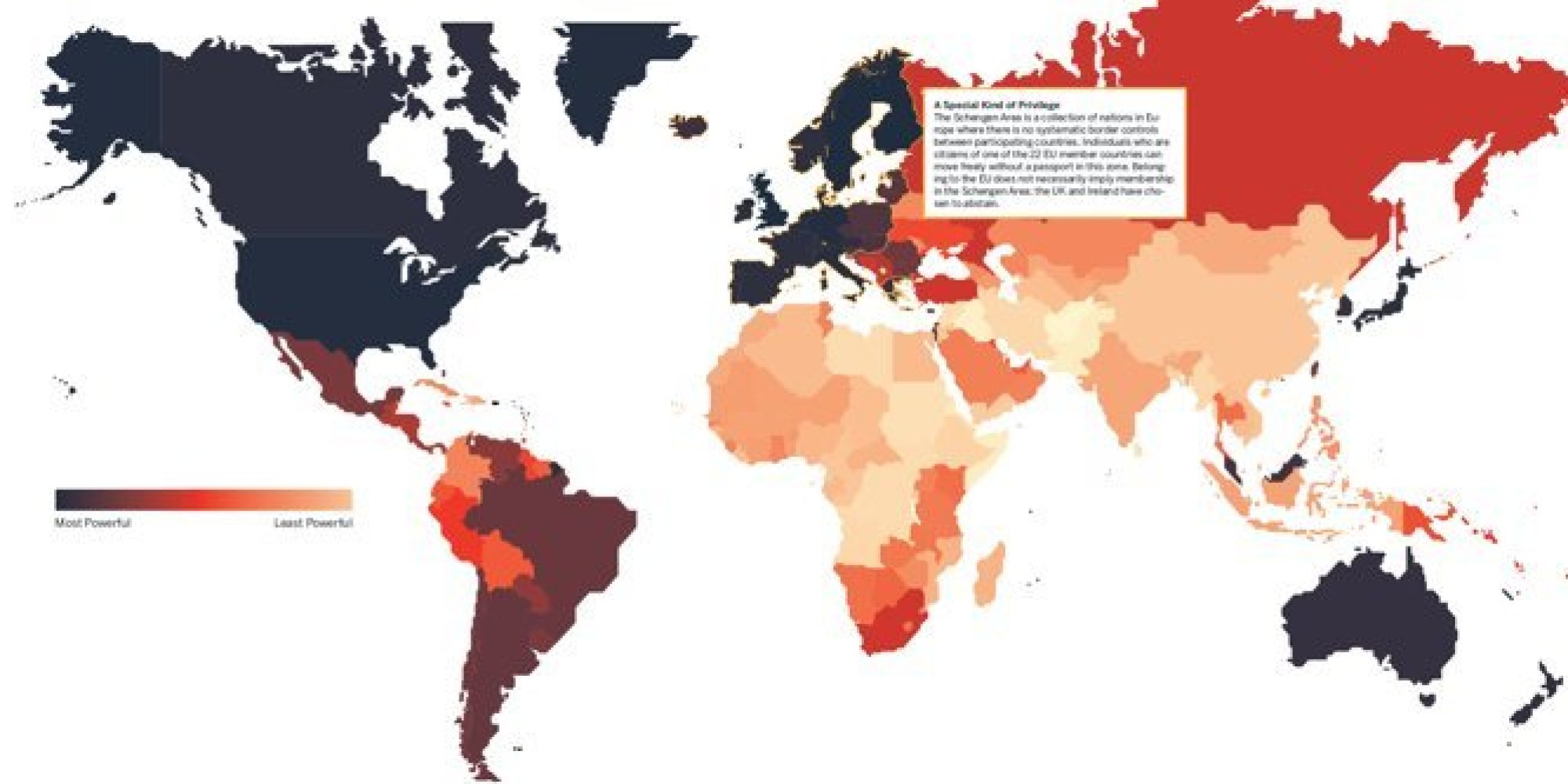 Not All Passports Are Created Equal As This Map Will Tell You - Us maps that can be color coded