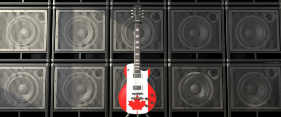CANADIAN FLAG GUITAR
