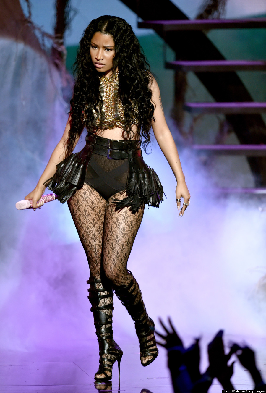 Nicki Minajs BET Awards 2014 Outfits Are Like Night And Day