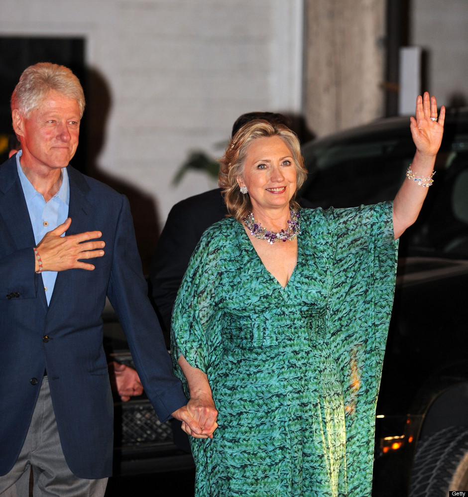 Chelsea Clinton Wedding Gown: Hillary & Bill Clinton Step Out To Pre-Wedding Party On