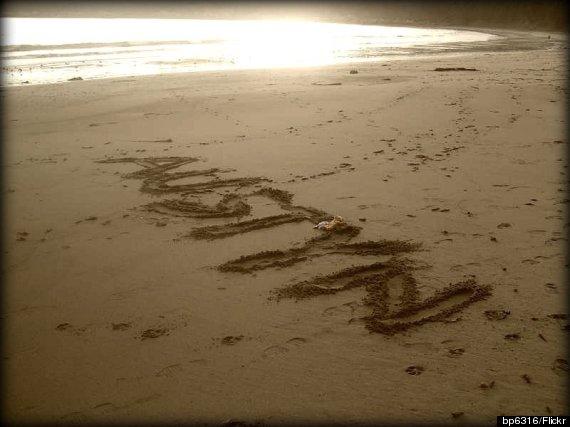 name in sand