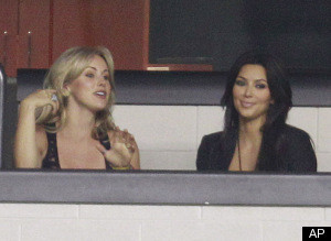 Kim Kardashian Cowboys Practice Miles Austin