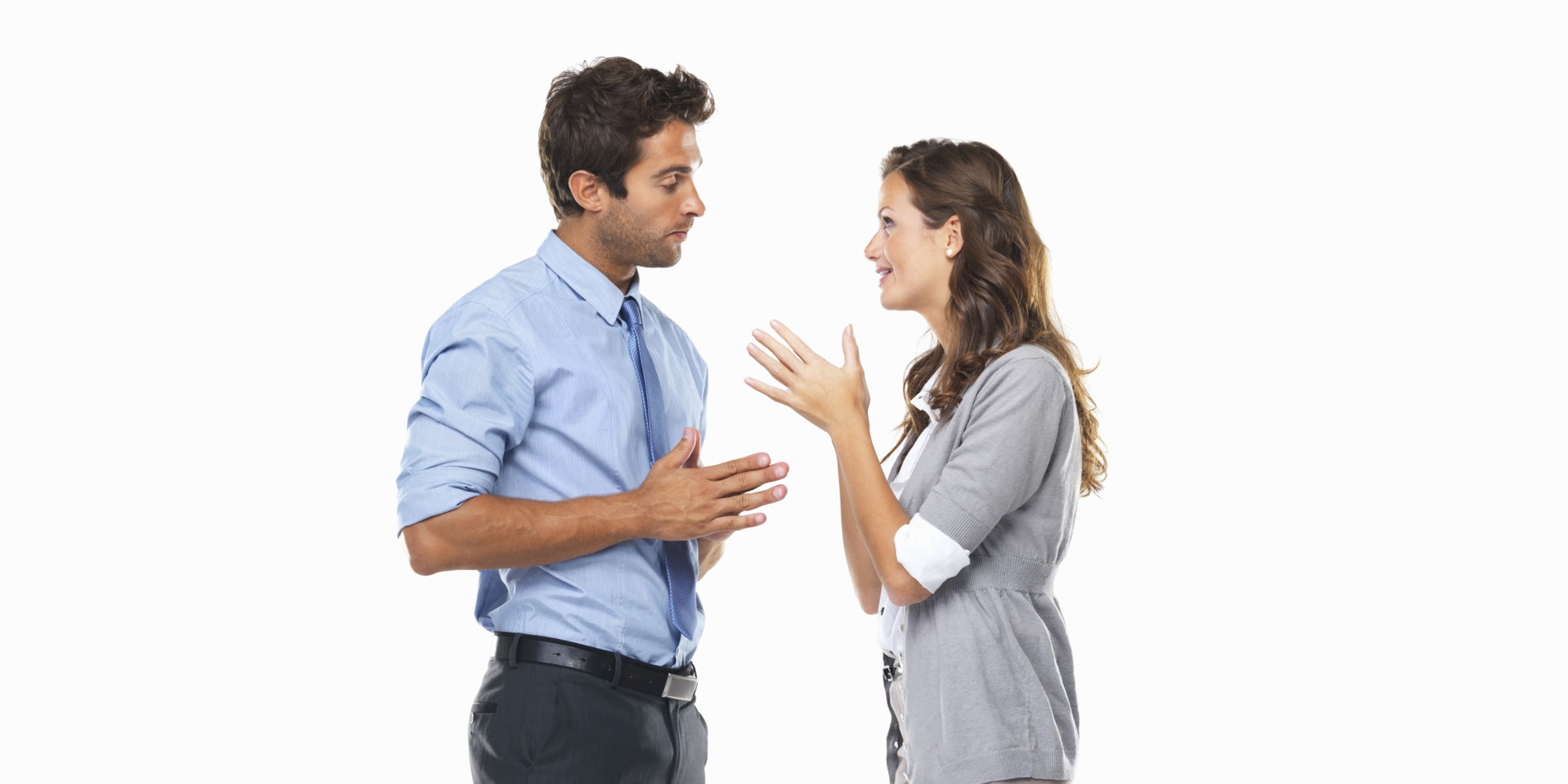 Two People Speaking Spanish Clipart
