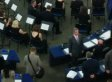 Nigel Farage Turns His Back On EU Anthem In Opening Ceremony (PICTURES)