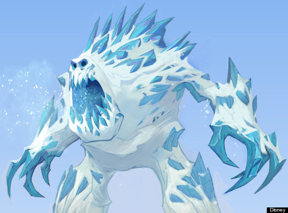 Ice Monster Drawing Frozen Ice Monster