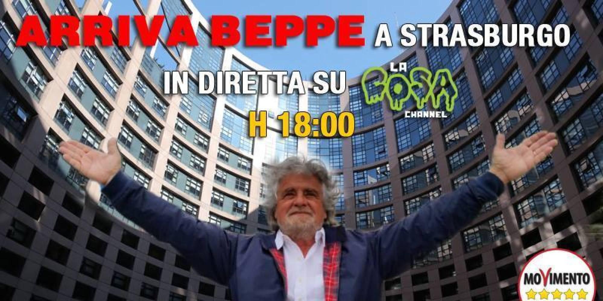 Beppe grillo a strasburgo farage ha fatto benissimo a for Diretta streaming parlamento