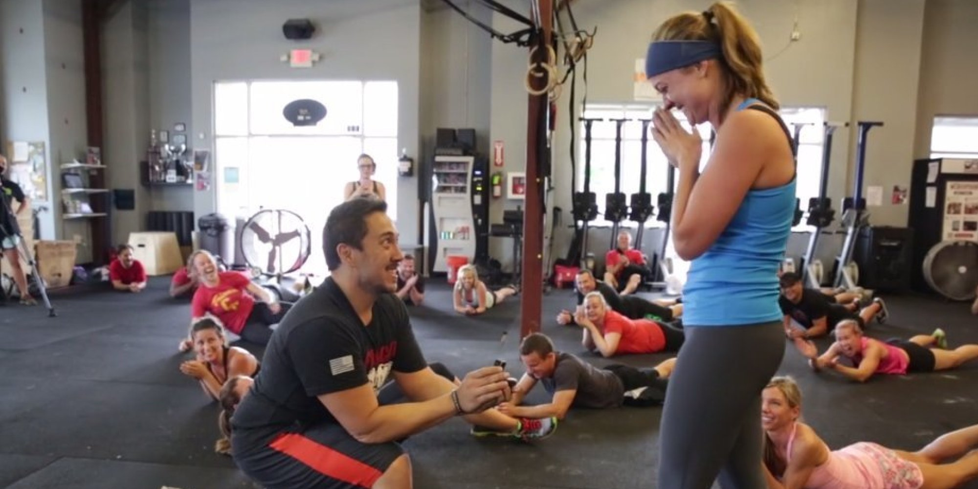Crossfit proposal somehow makes burpees seem romantic for Fitness depot wedding