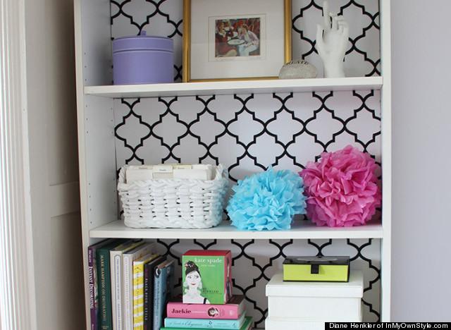 painting bookshelf