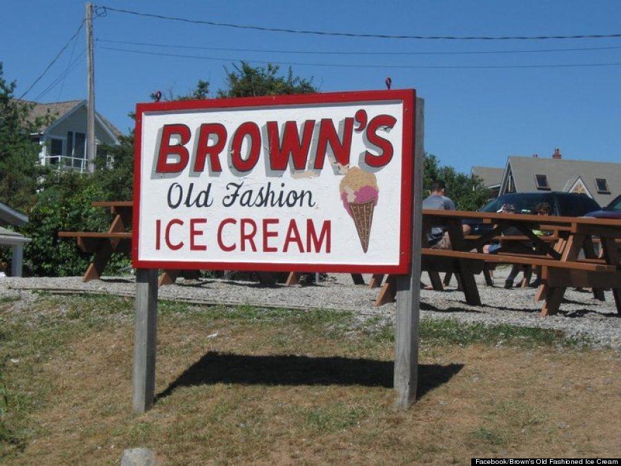 browns ice cream