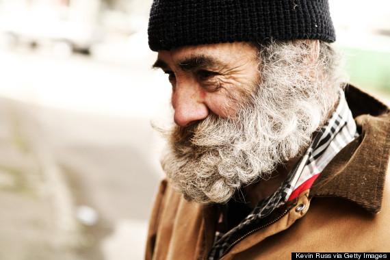 homeless smiling