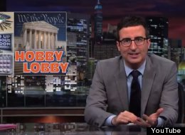 WATCH: John Oliver Takes On Hobby Lobby And Companies Who Want Religious Rights