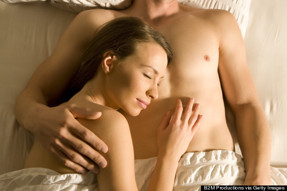 couple sleep naked