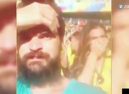 WATCH: Brazil Fan Lets One Go, Neymar's Girlfriend Not Happy