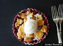 Joan Nathan's Chosen Red, White, And Blue Fruit Crisp