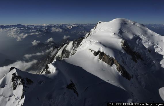 mont blanc aerial