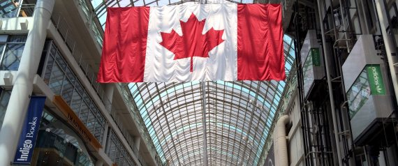 CANADIAN FLAG IN MALL