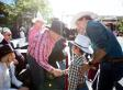 Justin Trudeau Introduces His Kids To Harper At Calgary Stampede Parade