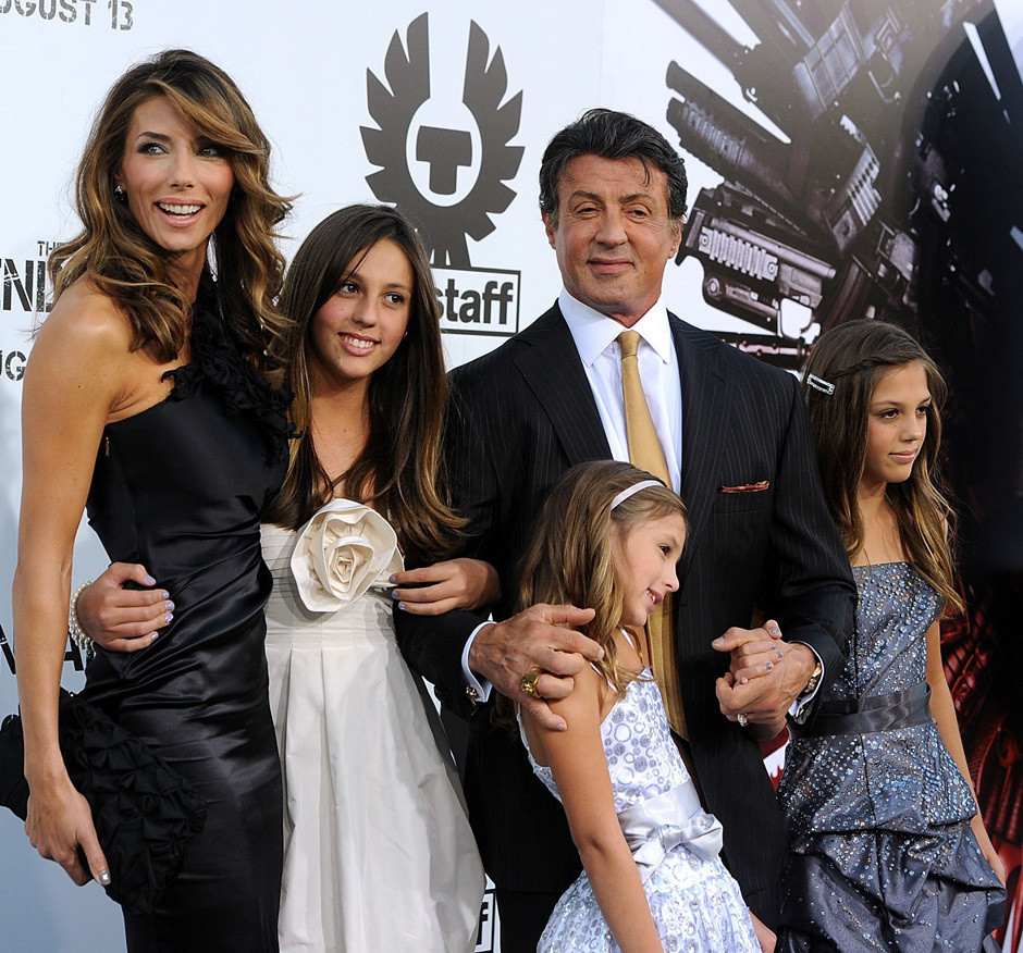 Sylvester Stallone Brings All His Ladies To Premiere ...