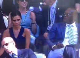 Mrs Beckham And Samuel L's Awkward Wimbledon Silence (Vine)